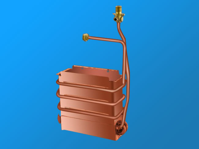 WCB8L anaerobic copper heat exchanger